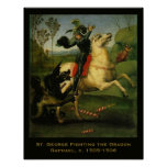 "Raphael:""St. George Fighting the Dragon"" Art Poster"