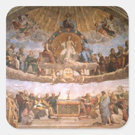 Raphael: The Disputation of the Holy Sacrament Square Sticker