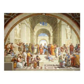 Raphael - The school of Athens 1511 Postcard