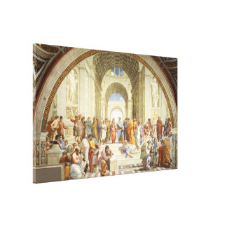 RAPHAEL - The school of Athens 1512 Canvas Print