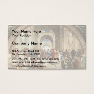 Raphael: The School of Athens Business Card