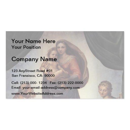 Raphael- The Sistine Madonna Business Card Templates