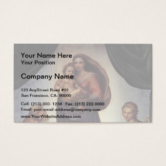 Raphael- The Sistine Madonna Business Card