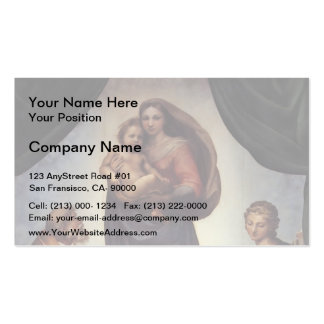 Raphael- The Sistine Madonna Pack Of Standard Business Cards
