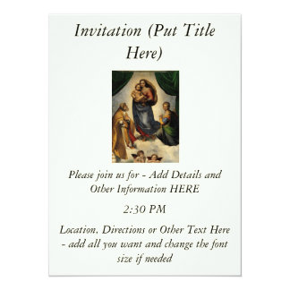 "Raphael's Classic ""Sistine Madonna"" (circa 1513) Personalized Announcements"