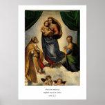 "Raphael's Classic ""Sistine Madonna"" (circa 1513) Poster"