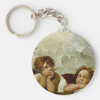 "Raphael's ""Sistine Madonna"" (circa 1513) (Detail) Key Ring"