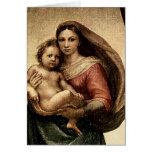 "Raphael's ""Sistine Madonna"" Detail (circa 1513) Greeting Card"