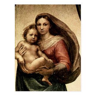 "Raphael's ""Sistine Madonna"" Detail (circa 1513) Postcard"