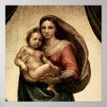 "Raphael's ""Sistine Madonna"" Detail (circa 1513) Print"
