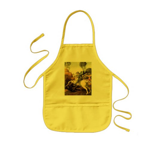 """Raphael's """"St. George and the Dragon"""" (circa 1505) Aprons"""