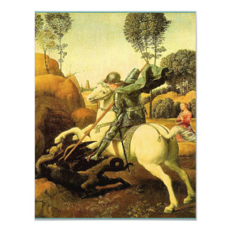 """Raphael's """"St. George and the Dragon"""" (circa 1505) Personalized Invite"""