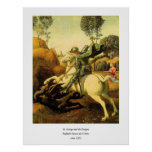 """Raphael's """"St. George and the Dragon"""" (circa 1505) Poster"""