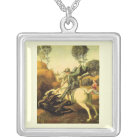 """Raphael's """"St. George and the Dragon"""" (circa 1505) Silver Plated Necklace"""
