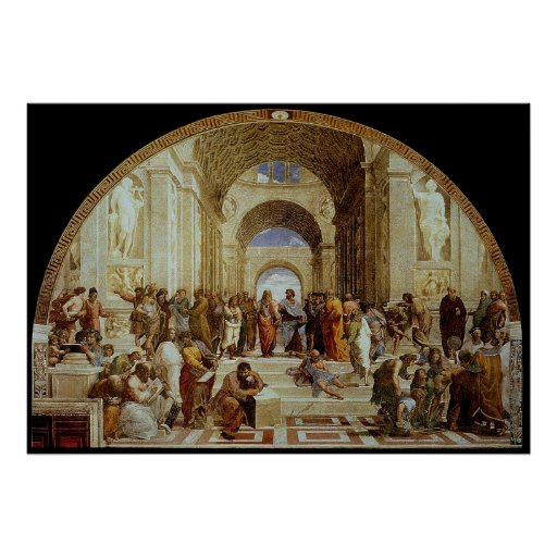 """Raphael's """"The School of Athens"""" (circa 1511) Poster"""