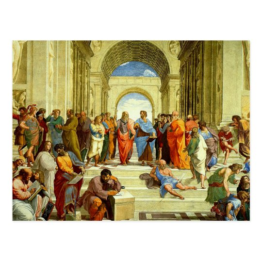 """Raphael's """"The School of Athens"""" Detail circa 1511"""
