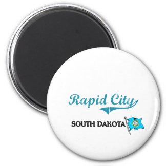 Rapid City South Dakota City Classic 6 Cm Round Magnet