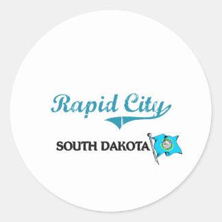 Rapid City South Dakota City Classic Round Sticker