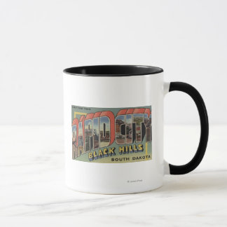 Rapid City, South Dakota - Large Letter Scenes Mug