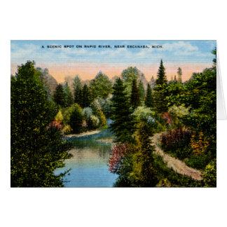 Rapid River Escanaba, Michigan Card