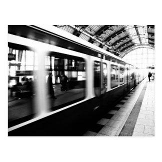 Rapid-transit railway Berlin black Weis Postcard