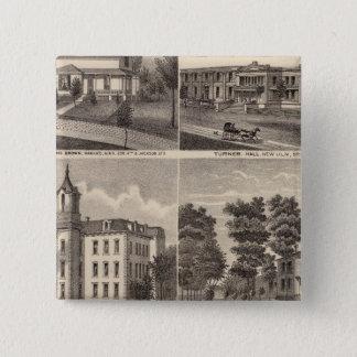 Rapidan Mills and Residences in Rapidan, Minnesota 15 Cm Square Badge