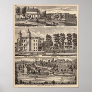 Rapidan Mills and Residences in Rapidan, Minnesota Poster