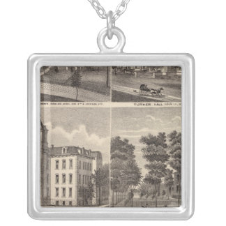 Rapidan Mills and Residences in Rapidan, Minnesota Silver Plated Necklace