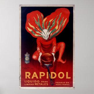 Rapidol, Metal Polish Spanish Advertising Poster
