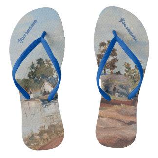 "Rapp's ""Sunday Trip"" art sandals"