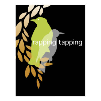 Rapping Tapping - Birds on Branch Postcard