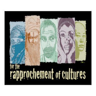 Rapprochement of cultures poster