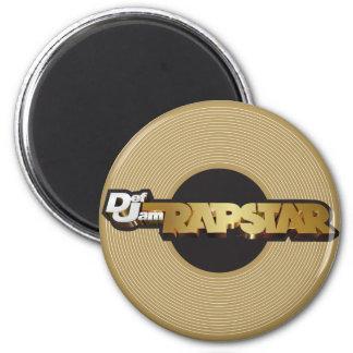Rapstar Vinyl 6 Cm Round Magnet