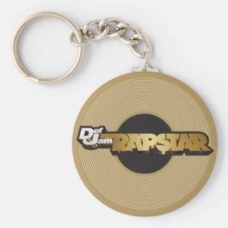 Rapstar Vinyl Basic Round Button Key Ring