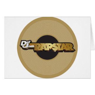 Rapstar Vinyl Greeting Card
