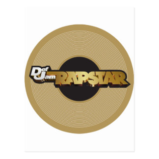 Rapstar Vinyl Post Cards