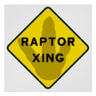 Raptor Crossing Poster