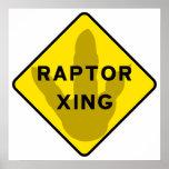 Raptor Crossing Poster