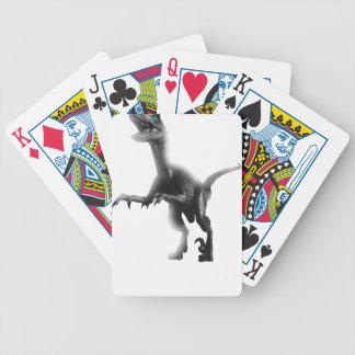 Raptor Dinosaur T Rex Bicycle Playing Cards