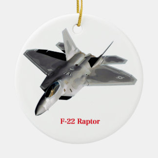 Raptor F-22 Christmas Ornament