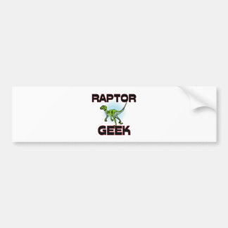 Raptor Geek Bumper Sticker