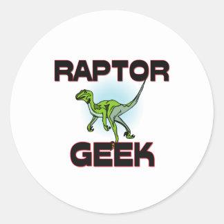 Raptor Geek Round Sticker