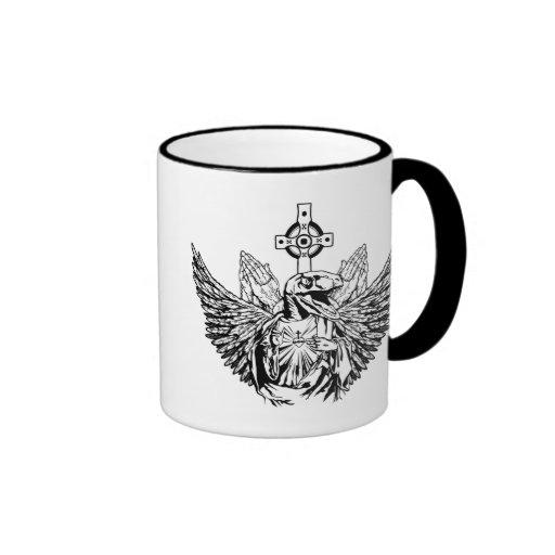 Raptor Jesus Loves You Coffee Mug