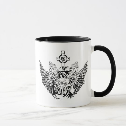 Raptor Jesus Loves You Mug