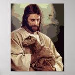 Raptor Jesus Poster