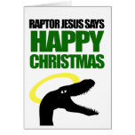 Raptor Jesus says Happy Christmas Cards