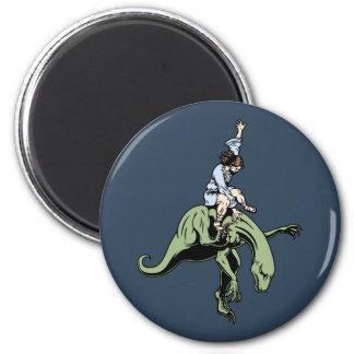Raptor Rodeo Jesus 6 Cm Round Magnet