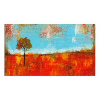 Rapture Abstract Landscape Tree Art Painting Business Card