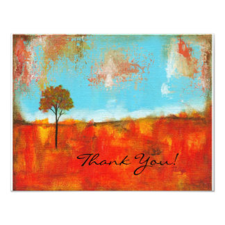 "Rapture Abstract Landscape Tree Art Painting 4.25"" X 5.5"" Invitation Card"