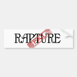 Rapture Fail Bumper Sticker
